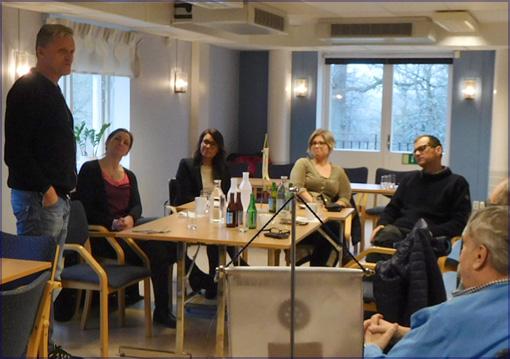 Klubbmöte i Rotary Höör, där alla deltagare bidrar med tips